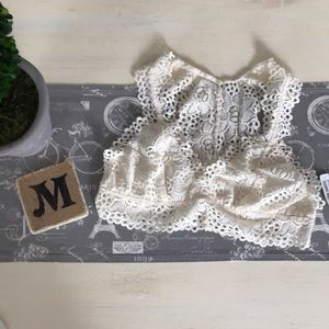 Ivory lacy bralette by Altar'd state
